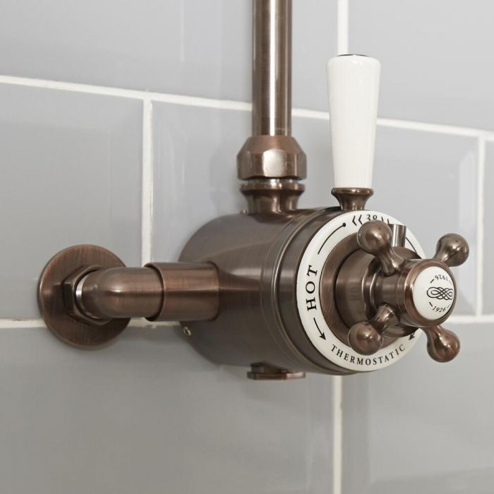 Milano Elizabeth - Traditional Dual Control Exposed Thermostatic Shower Valve - Oil Rubbed Bronze
