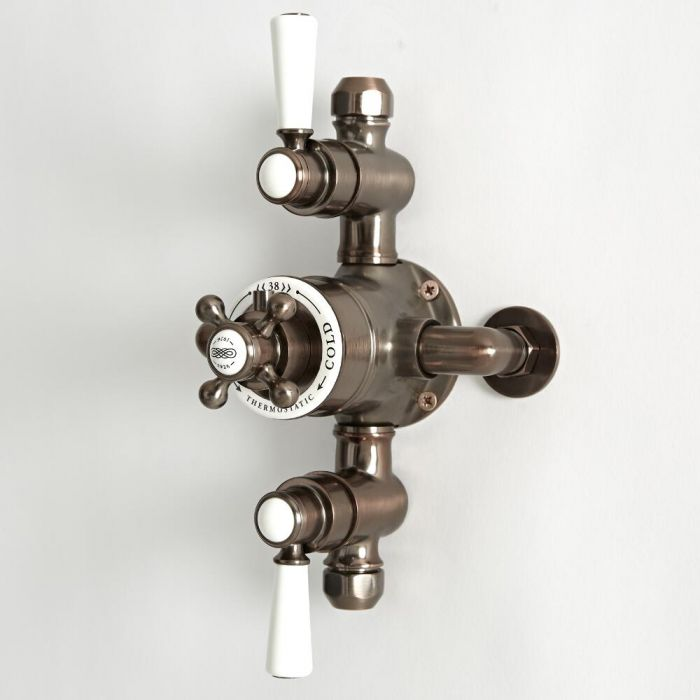 Milano Elizabeth - Traditional Triple Exposed Thermostatic Shower Valve - Oil Rubbed Bronze