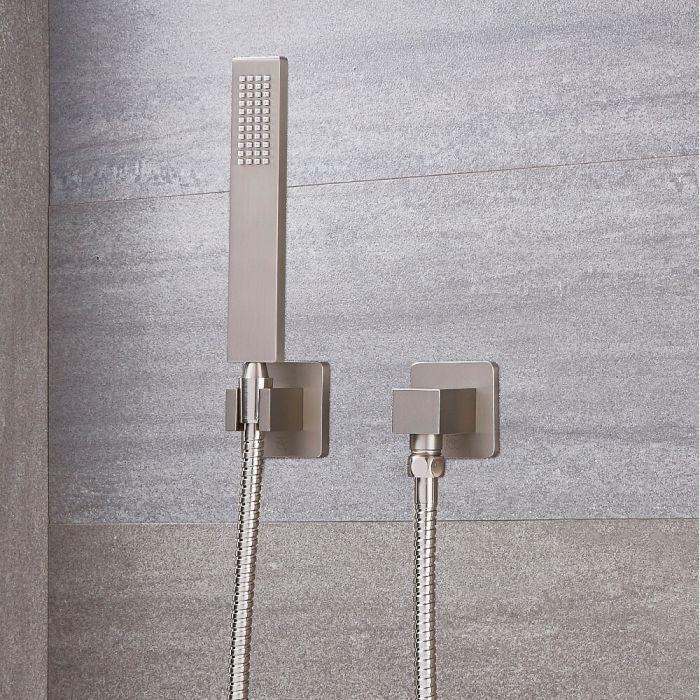 Milano Hunston - Square Hand Shower - Brushed Nickel