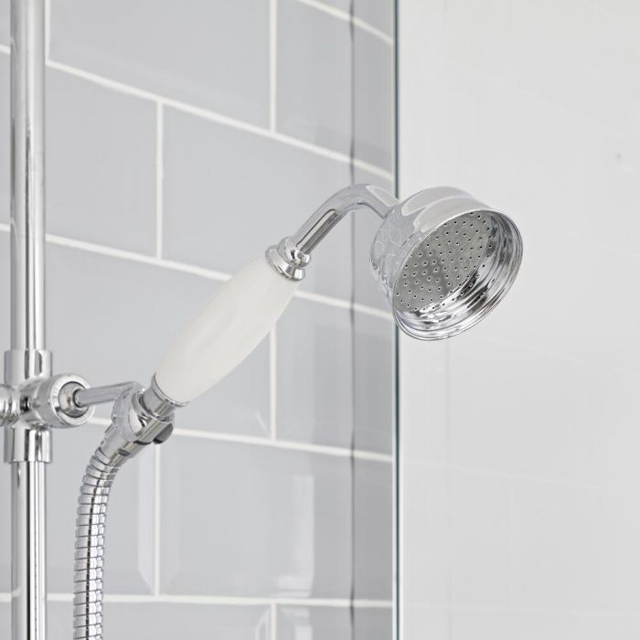 Milano Elizabeth - Traditional Hand Shower - Chrome/White