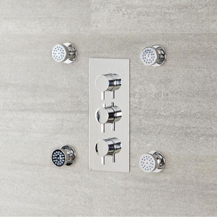 Milano Mirage - Modern Front Fix Pack of 4 Round Body Jets - Chrome
