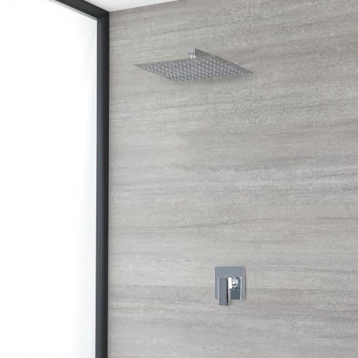 Milano Arvo - Chrome Shower with Wall Mounted Shower Head (1 Outlet)