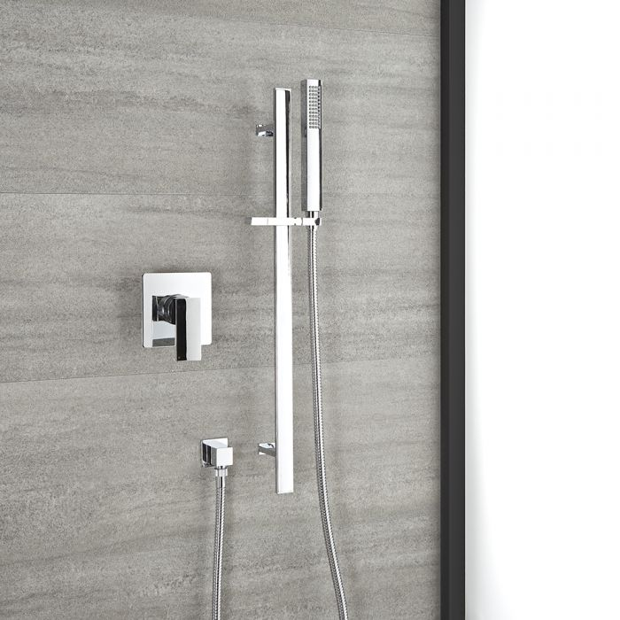 Milano Arvo - Chrome Shower with Riser Rail and Hand Shower (1 Outlet)