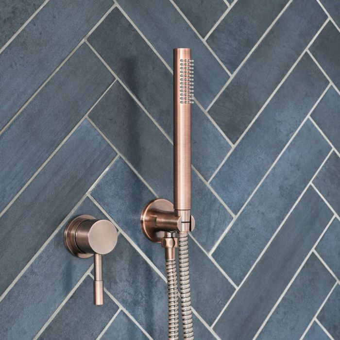 Milano Amara - Manual Shower Valve with Hand Shower - Brushed Copper