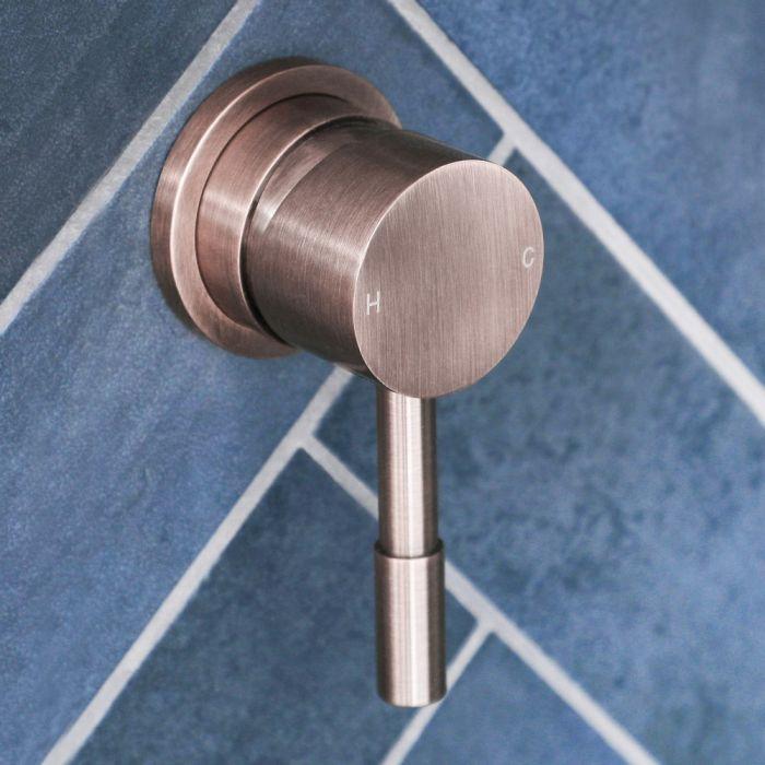 Milano Amara - Modern Manual Shower Valve - One Outlet - Brushed Copper