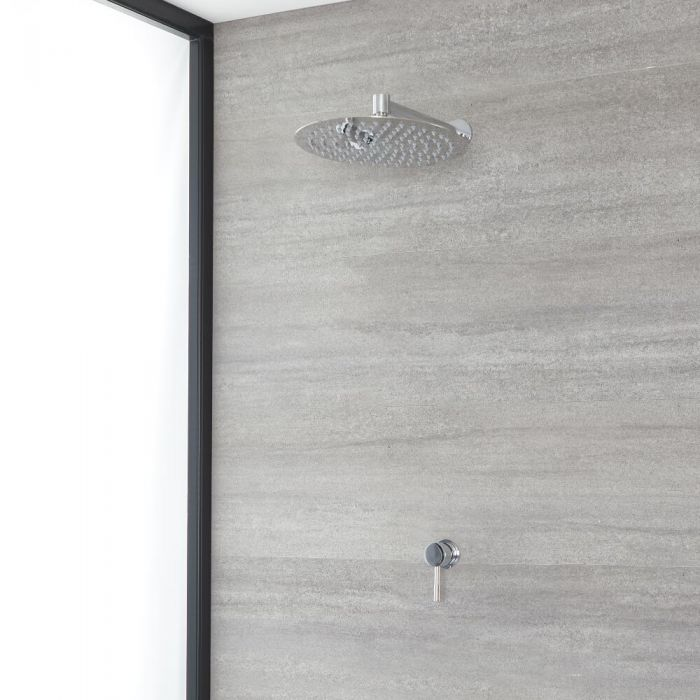 Milano Mirage - Chrome Shower with Wall Mounted Shower Head (1 Outlet)
