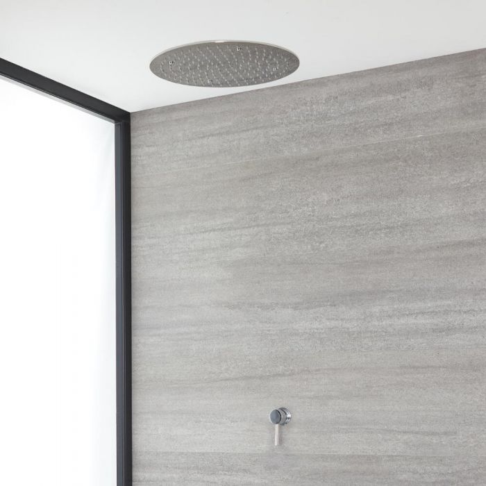 Milano Mirage - Chrome Shower with Recessed Shower Head (1 Outlet)