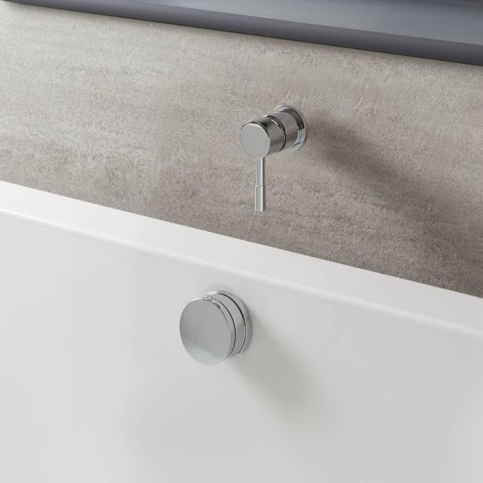 Milano Mirage - Modern One Outlet Valve with Overflow Bath Filler and Waste - Chrome