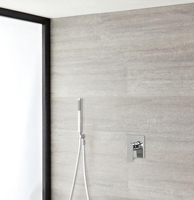 Milano Ashurst - Manual Shower Valve with Round Hand Shower - Chrome