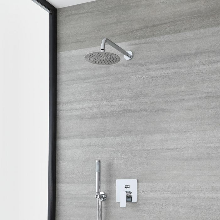 Milano Arcadia - Chrome Shower with Diverter, Shower Head and Hand Shower (2 Outlet)