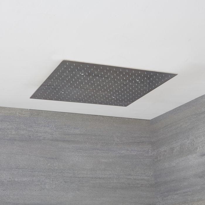 Milano Arvo - Modern 600mm Square Ceiling Head Polished - Chrome