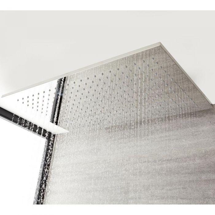 Milano Arvo - Modern Large 800mm x 500mm Shower Head - Chrome