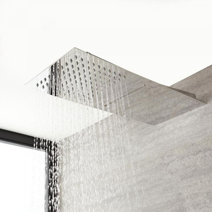 Milano Arvo - Modern Stainless Steel Shower Head with Waterblade - Chrome