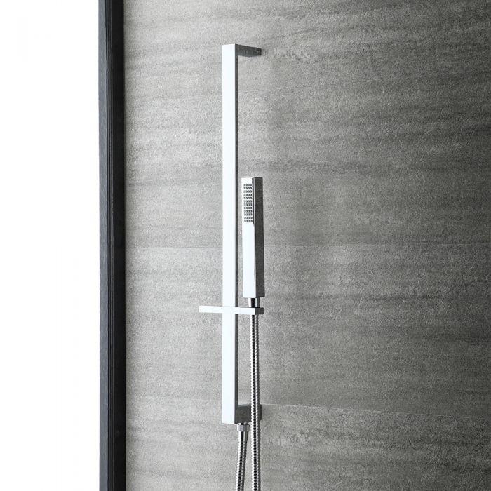 Milano Arvo - Modern Riser Rail Kit with Hand Shower - Chrome