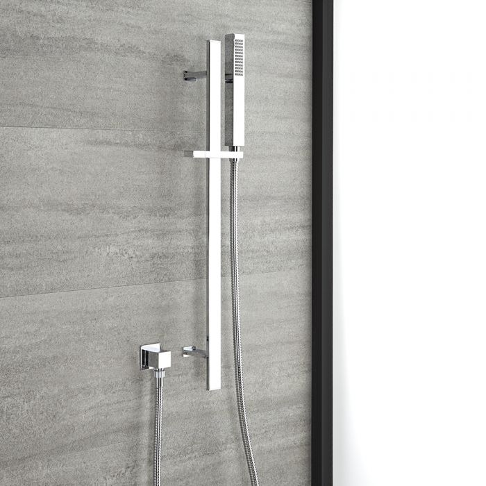 Milano Arvo - Modern Riser Rail Kit with Hand Shower and Outlet Elbow - Chrome