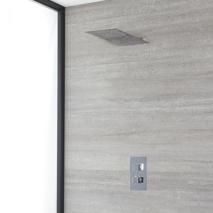 Milano Arvo - Chrome Thermostatic Shower with Slim Shower Head (1 Outlet)
