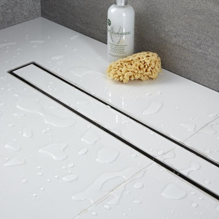Milano - 400mm Tile Insert Linear Stainless Steel Shower Drain