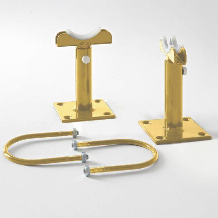 Milano Windsor - Metallic Gold Floor-Mounting Feet for 500mm and 750mm Column Radiators