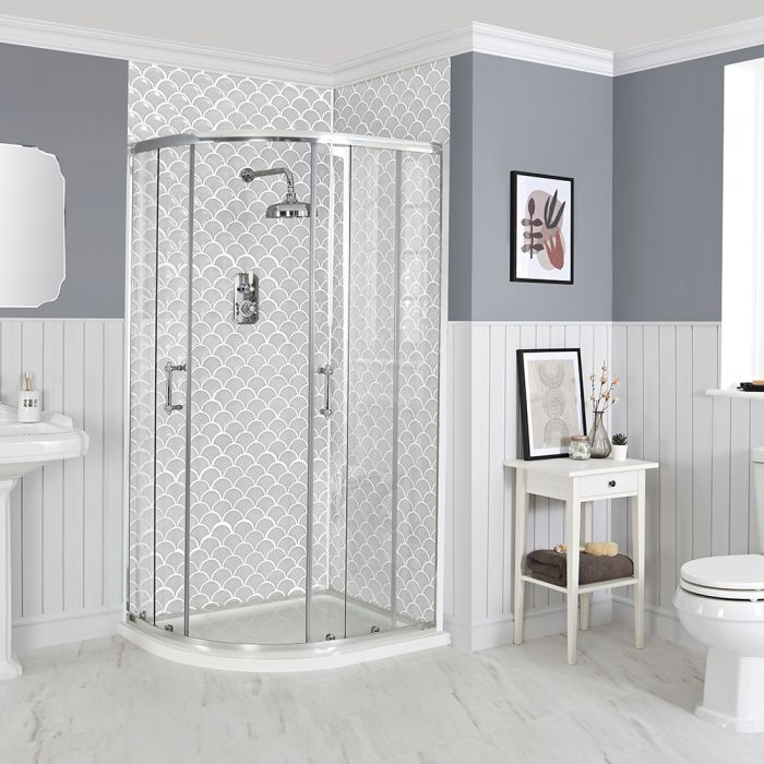 Milano Langley - Traditional Offset Quadrant Shower Enclosure - Choice of Sizes