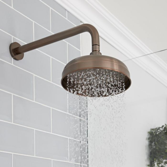 Milano Elizabeth - 200mm Traditional Apron Shower Head - Oil Rubbed Bronze
