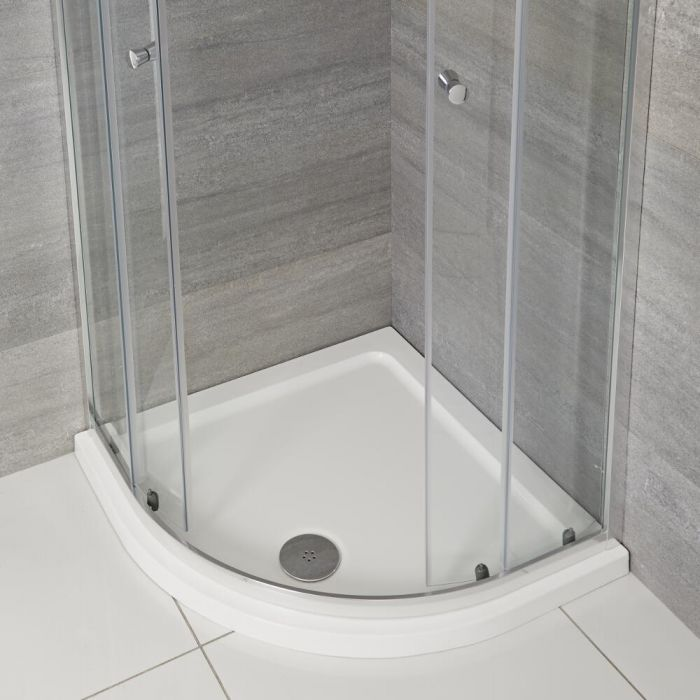 Milano Lithic - Low Profile Quadrant Shower Tray - 900mm x 900mm