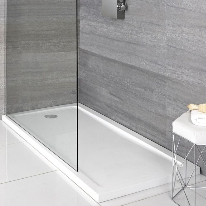 Milano Lithic - Low Profile Rectangular Bath Replacement Shower Tray - 1700mm x 700mm