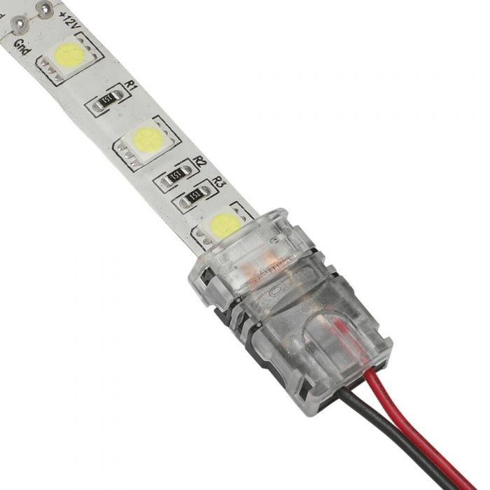 Biard LED 5050 Strip to 18-22AWG Wire Connector IP65 Single Colour - 2 Pin