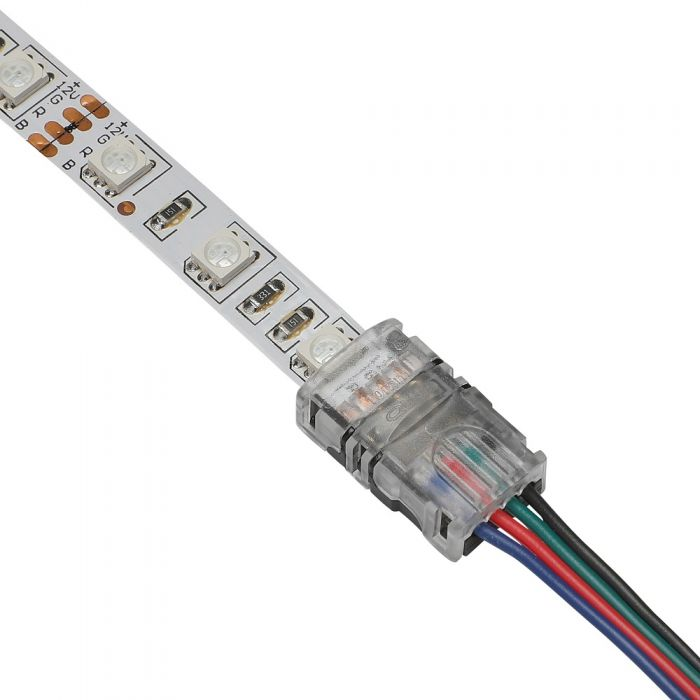 Biard LED 5050 Strip to 18-22AWG Wire Connector IP65 RGB - 4 Pin