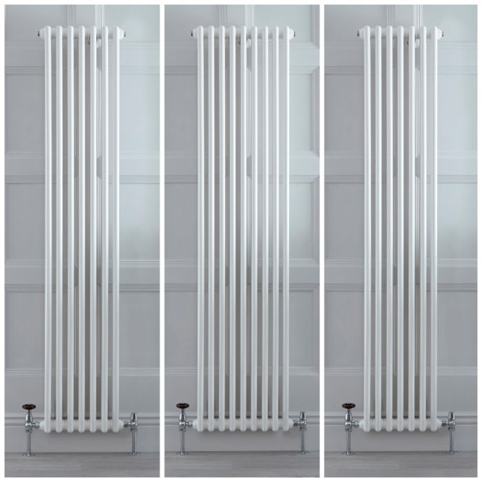 Stelrad Regal - White Vertical Traditional Double Column Radiator - Choice of Size