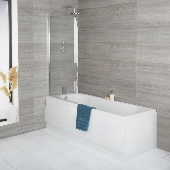 Milano Ballam - Standard Single Ended Bath with Bath Screen and Front Panel - Choice of Sizes