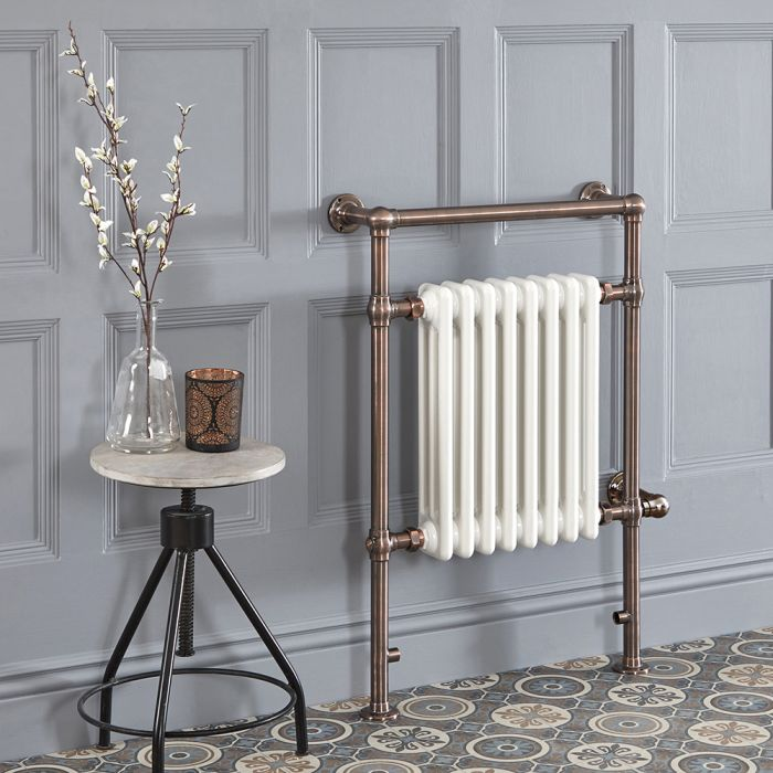 Milano Elizabeth - Oil Rubbed Bronze Traditional Electric Heated Towel Rail - 930mm x 620mm