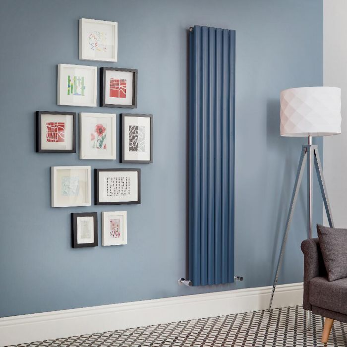 Milano Aruba - Dark Blue Vertical Designer Radiator (Double Panel) - All Sizes