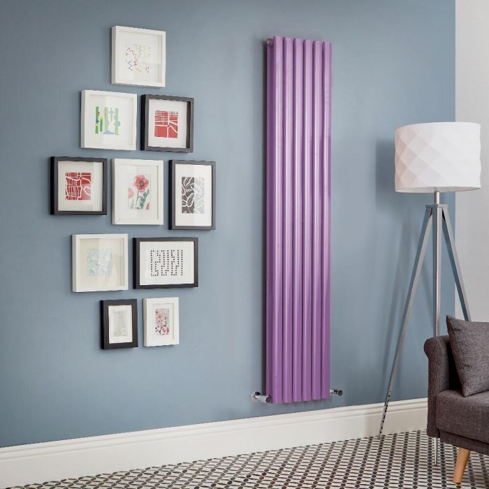 Milano Aruba - Purple Vertical Designer Radiator (Double Panel) - All Sizes