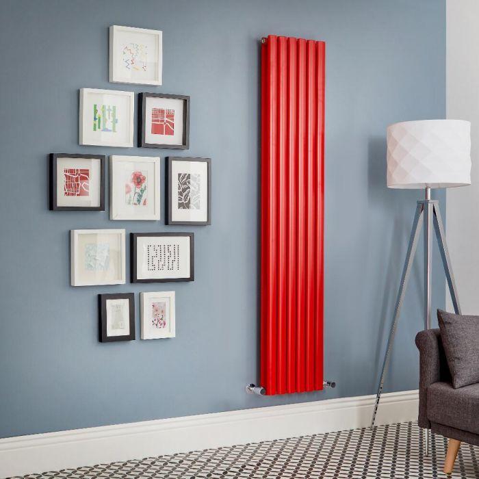 Milano Aruba - Red Vertical Designer Radiator (Double Panel) - All Sizes