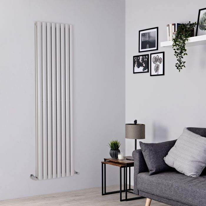 Milano Aruba - Light Grey Vertical Designer Radiator - 1780mm x 472mm (Double Panel)