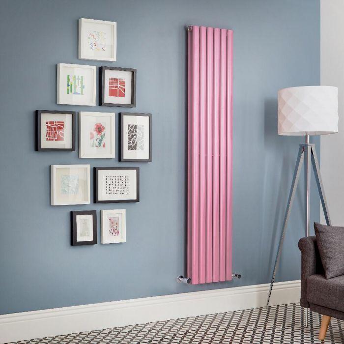Milano Aruba - Pink Vertical Designer Radiator (Double Panel) - All Sizes