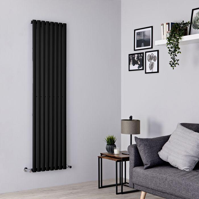 Milano Aruba - Black Vertical Designer Radiator - 1780mm x 472mm