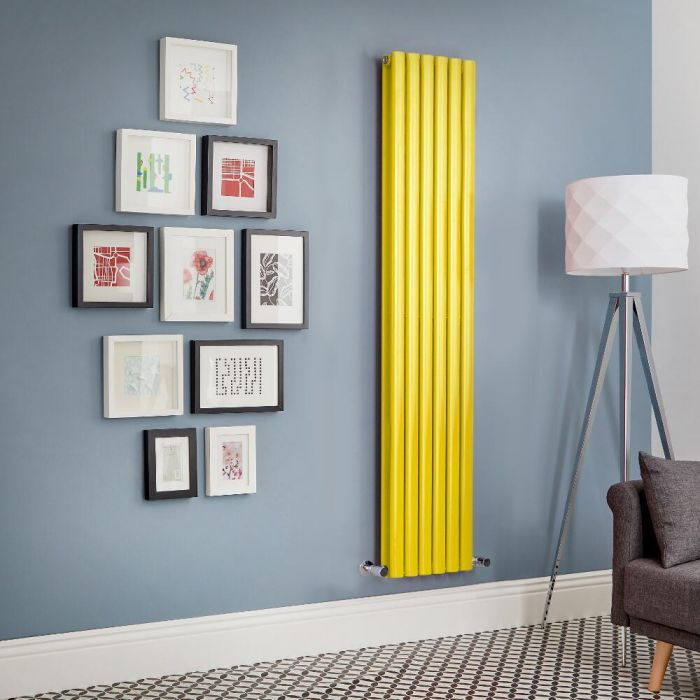 Milano Aruba - Yellow Vertical Designer Radiator (Double Panel) - All Sizes