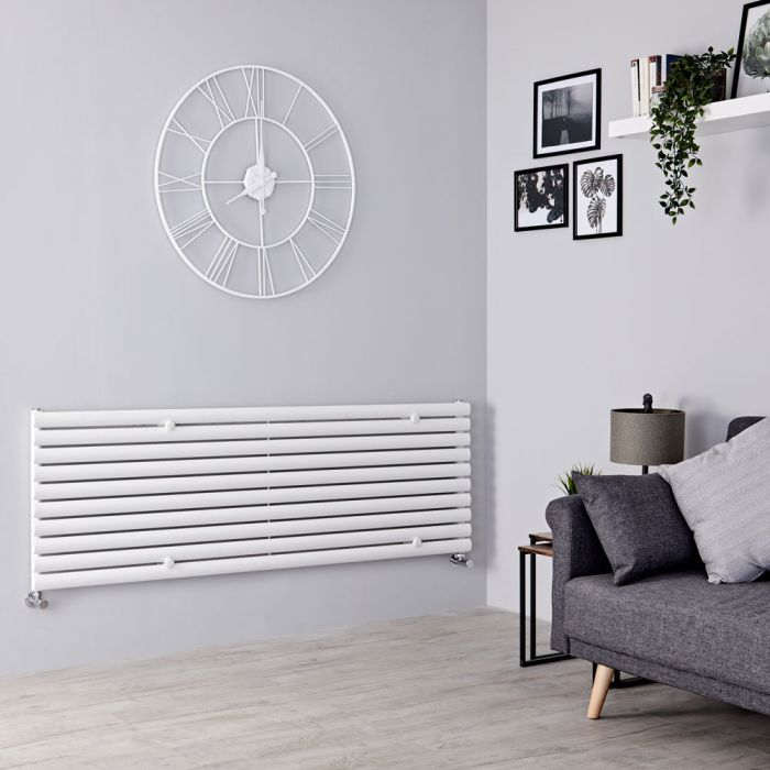 Milano Aruba - White Horizontal Designer Radiator - 590mm x 1780mm