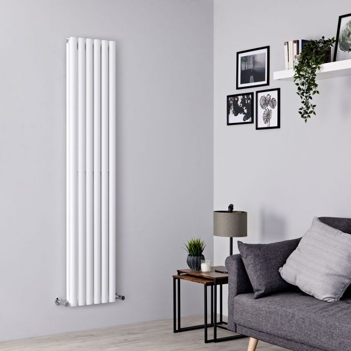 Milano Aruba - White Vertical Designer Radiator - 1780mm x 354mm (Double Panel)