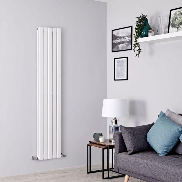 Milano Alpha - White Flat Panel Vertical Designer Radiator - 1780mm x 350mm (Double Panel)