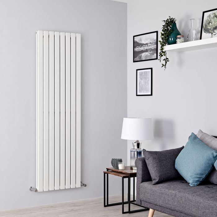 Milano Alpha - White Flat Panel Vertical Designer Radiator - 1780mm x 560mm (Double Panel)