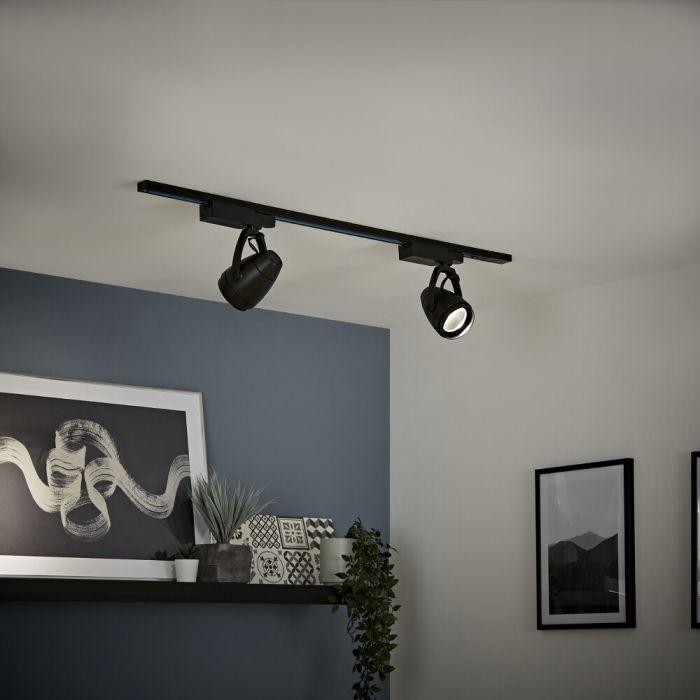 Biard - 12W Black LED Track Light Kit - Choice of Size
