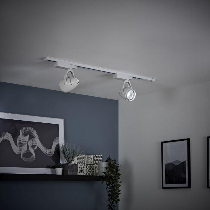 Biard - 12W White LED Track Light Kit - Choice of Size