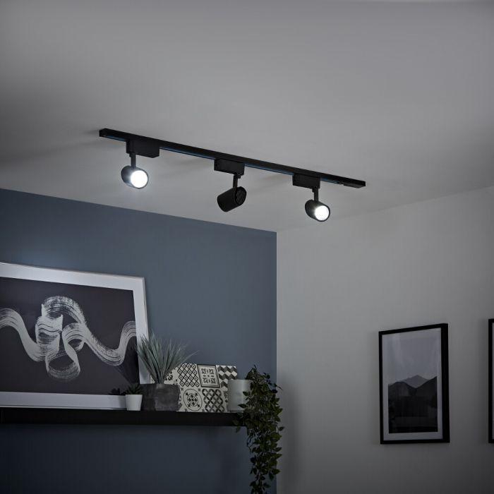 Biard - 7W Black LED Track Light Kit - Choice of Size