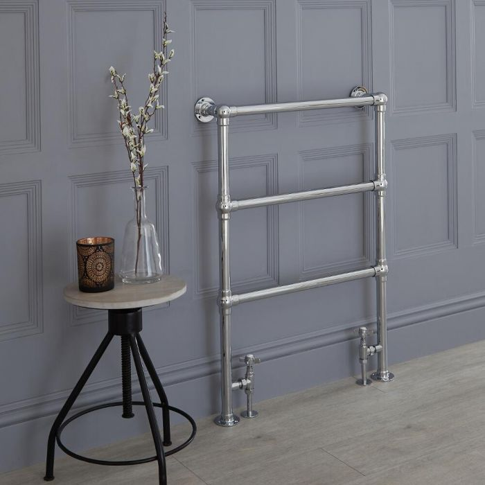 Milano Derwent - Traditional Minimalist Heated Towel Rail - 966mm x 673mm