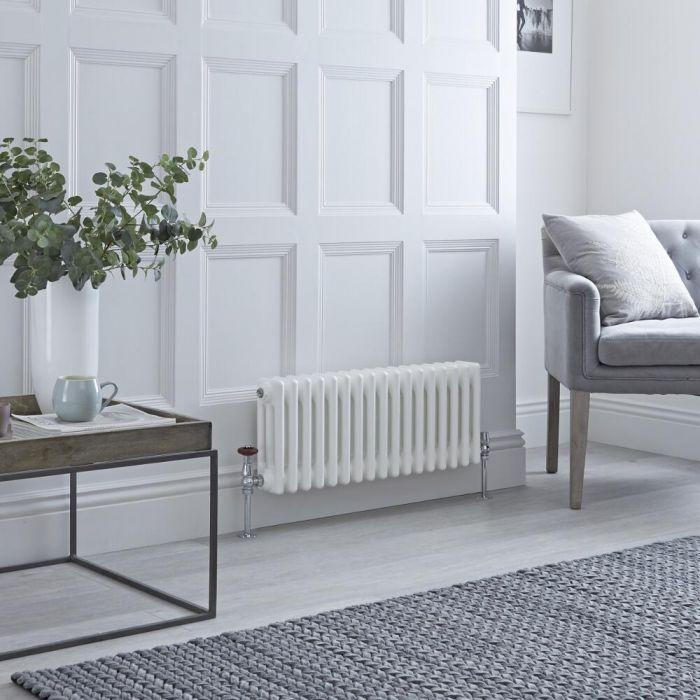 Milano Windsor - White Horizontal Traditional Column Radiator - 300mm x 785mm (Triple Column)
