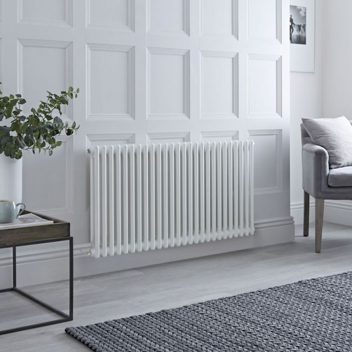 Milano Windsor - Traditional 26 x 2 Column Electric Radiator Cast Iron Style White - 600mm x 1190mm - with Choice of Wi-Fi Thermostat