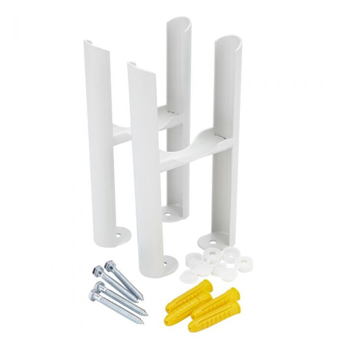 Milano Windsor - White Floor-Mounting Feet for Traditional 3 Column Windsor Radiators