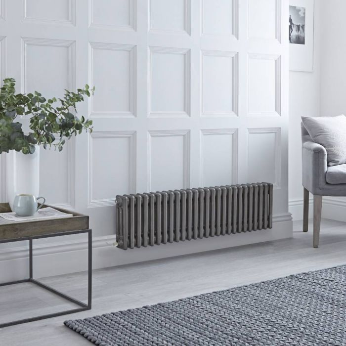 Milano Windsor – Traditional Horizontal 3 Column Electric Radiator - Lacquered Metal - 300mm x 1190mm - with Choice of Wi-Fi Thermostat